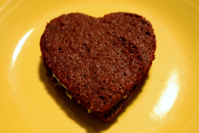 Valentine's Day Red Velvet Sandwich Cookie