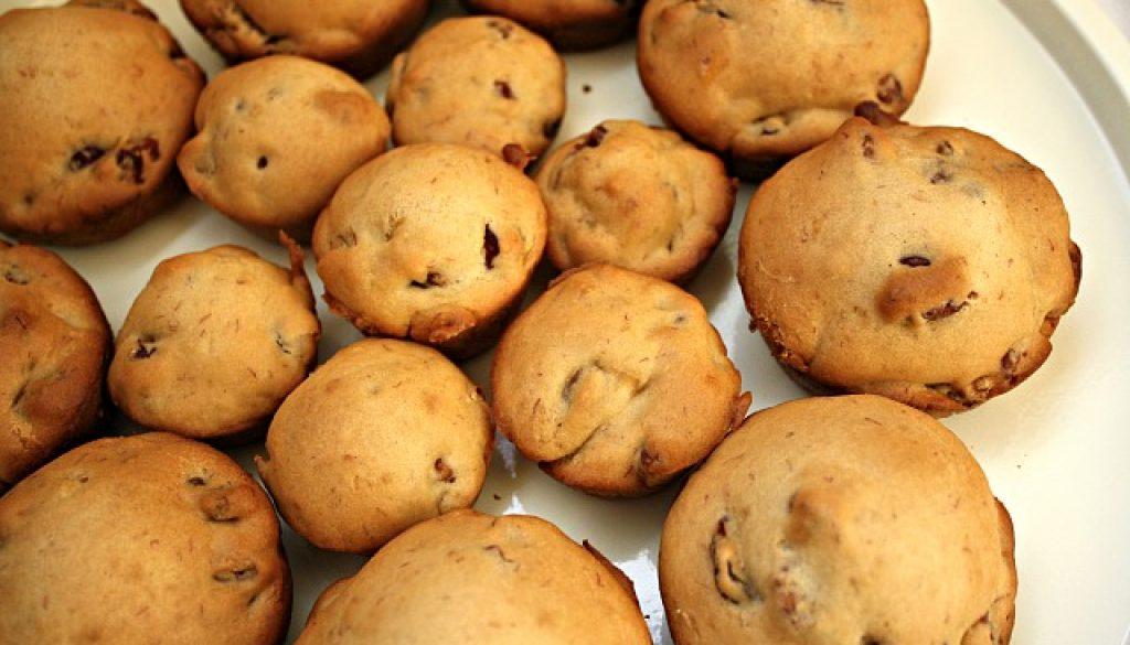 vegan cherry pecan muffins