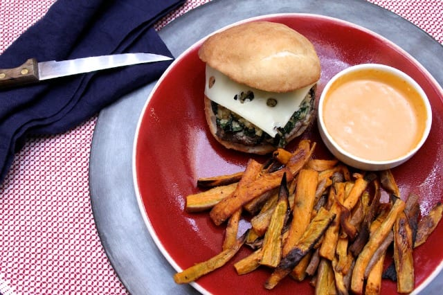 Molly's gluten-free mushroom burgers. Image source: Michael Anderson.