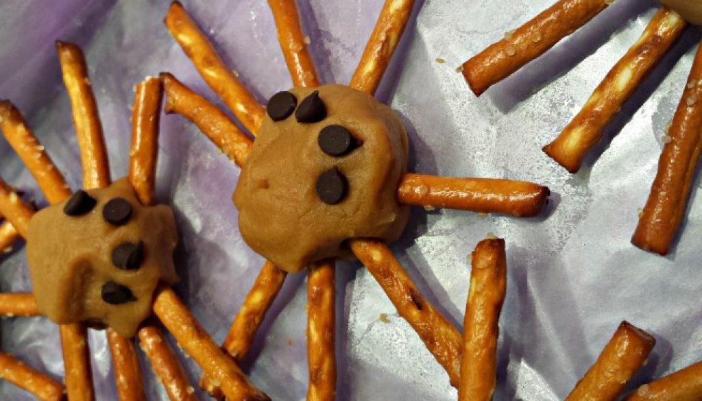 vegan peanut butter spiders
