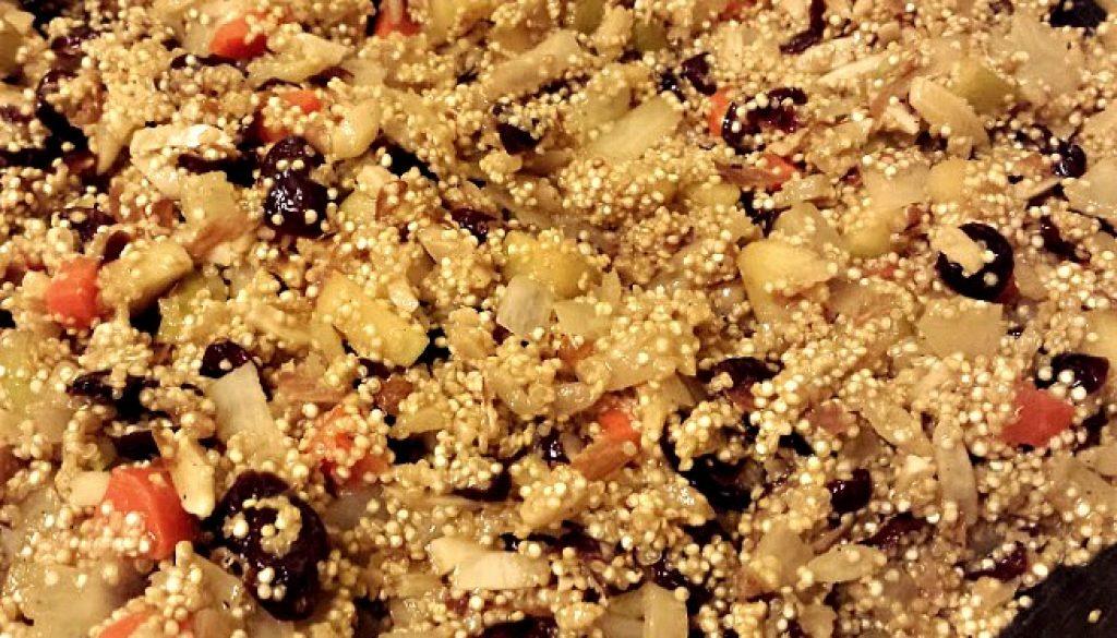 vegan apple cranberry quinoa salad