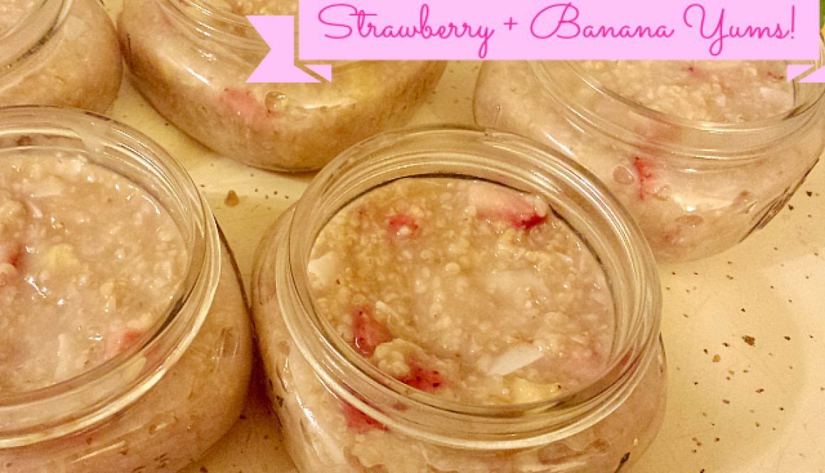 strawberry banana oats