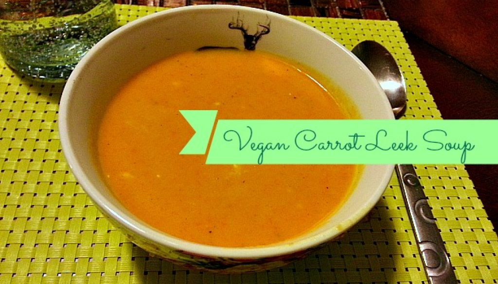vegan carrot leek soup