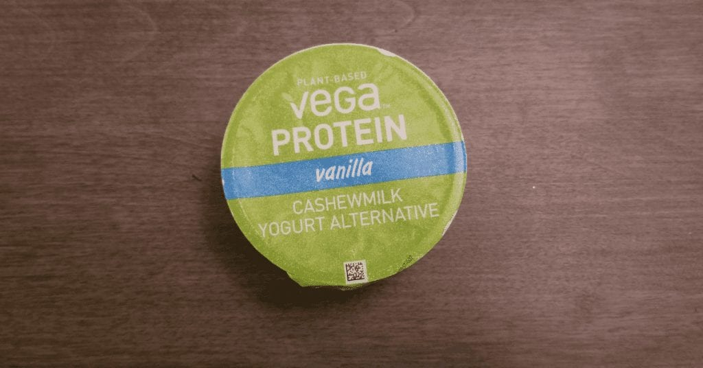 Vega yogurt review - top of packaging