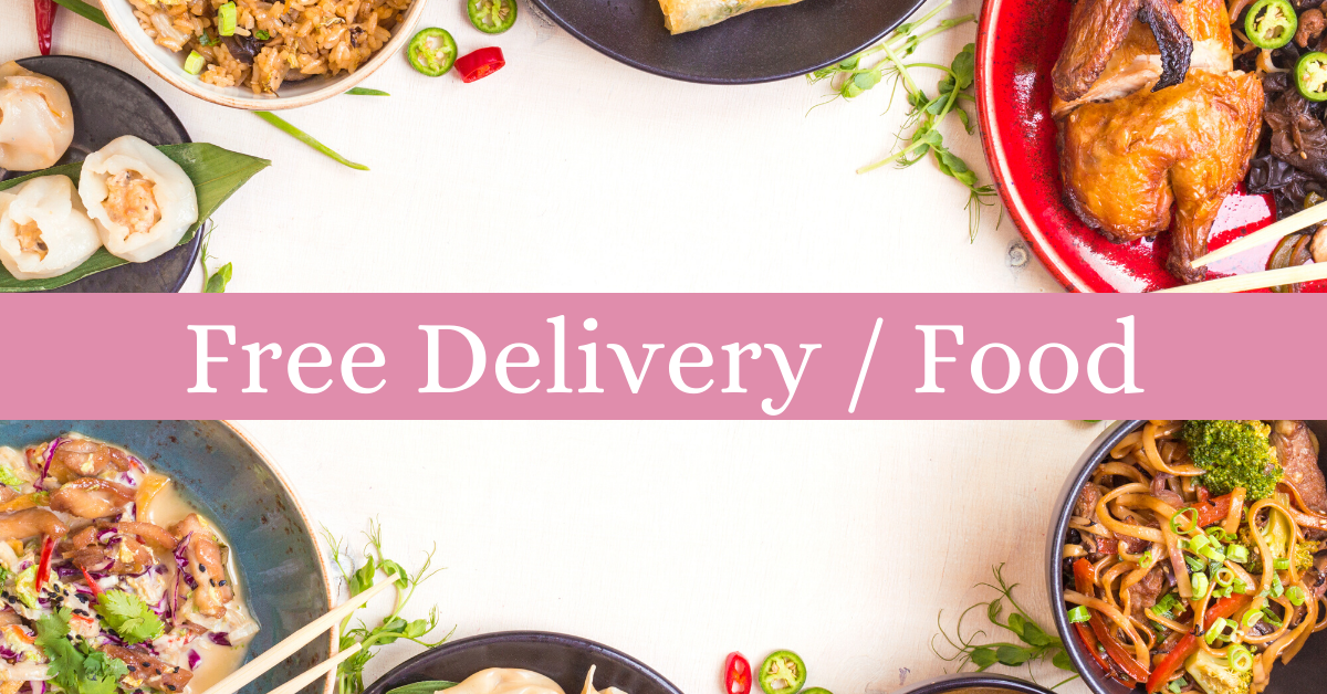Free delivery and food
