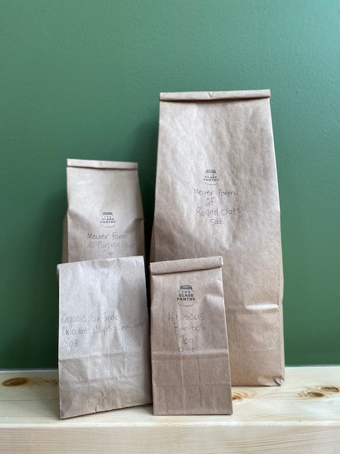 The Glass Pantry picture of dry goods in bags