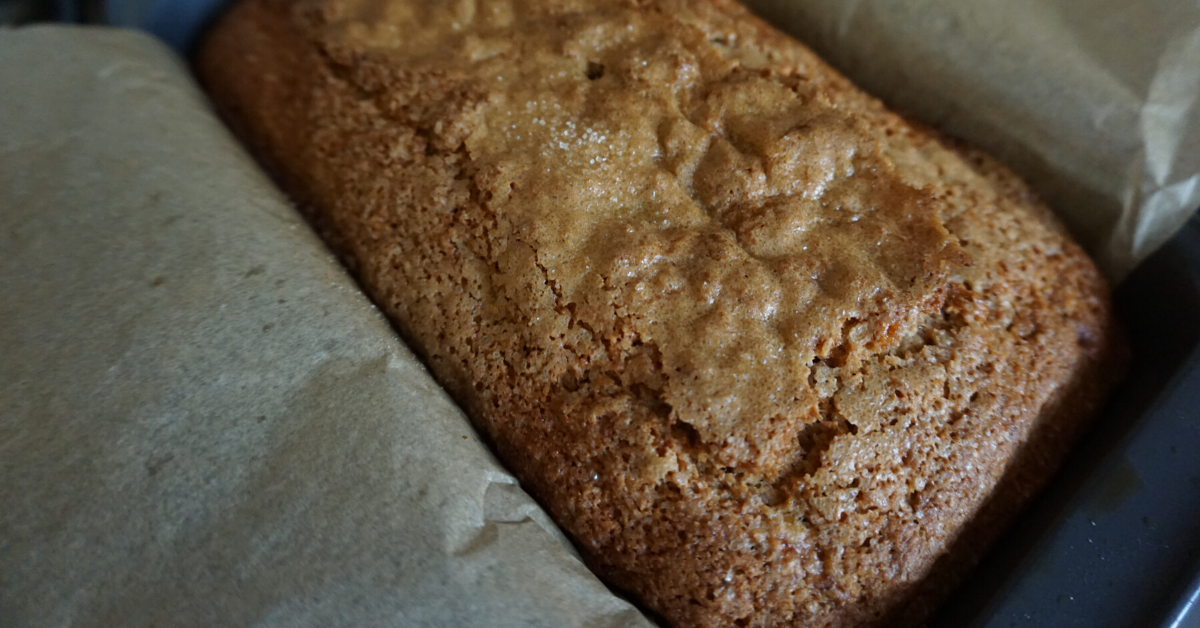 Sourdough Starter Waste Dairy-Free Banana Bread - -picture of finished product