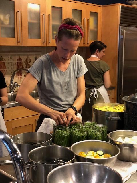 Annie Wegner LeFort cooking