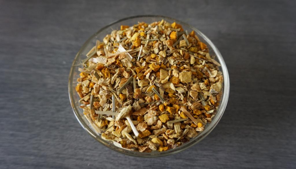 Homemade Turmeric Ginger Tea - picture of the loose leaf tea